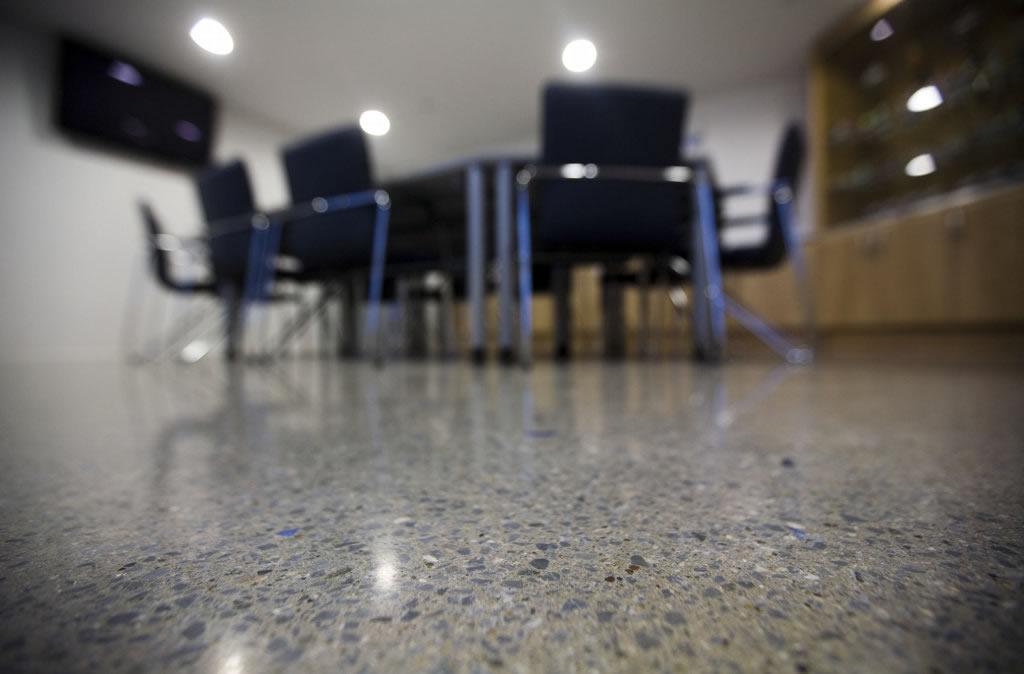 concrete polished floor polished concrete linoleum. Black Bedroom Furniture Sets. Home Design Ideas